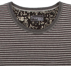 Imaginary Foundation - Chalkboard Men's Pocket Tee, Stripe - The Giant Peach - 4