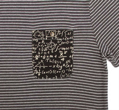 Imaginary Foundation - Chalkboard Men's Pocket Tee, Stripe - The Giant Peach - 5