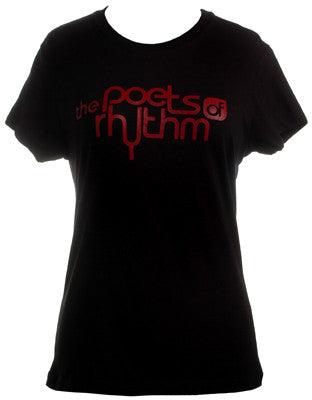 Poets of Rhythm - Women's Logo Shirt, Black - The Giant Peach