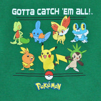 Pokemon - Gotta Catch 'Em All L/S Toddler Tee, Kelly Green - The Giant Peach