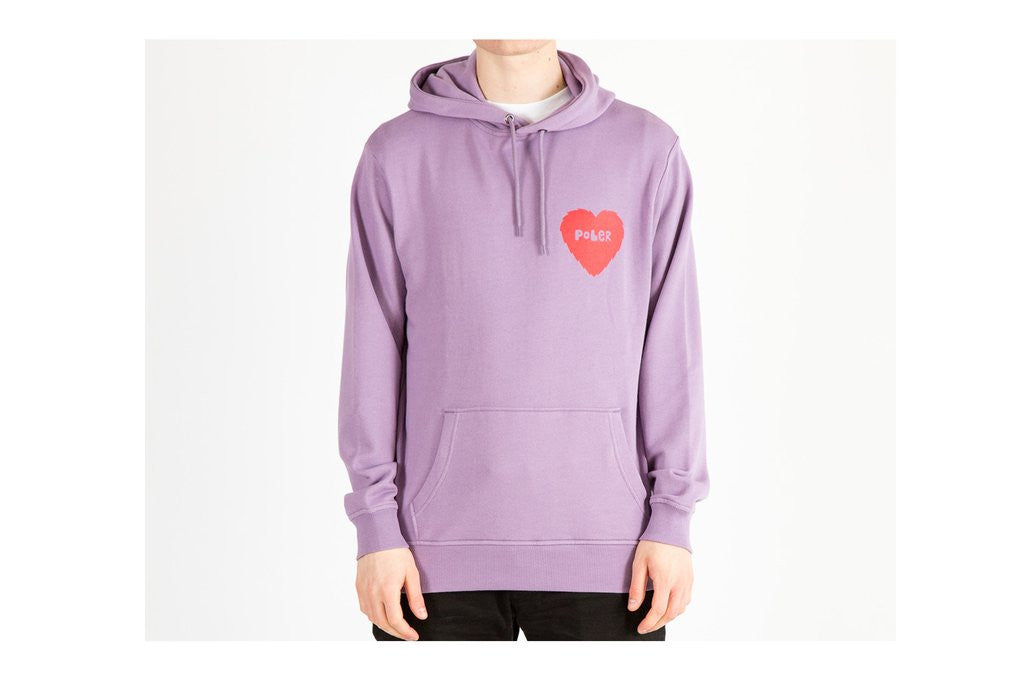 Poler - Heart Men's Hoodie, Lilac - The Giant Peach