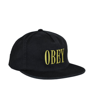 OBEY - Polly Men's Snapback, Black - The Giant Peach