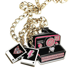 Hello Drama - Paparazzi Necklace, Multi-Color - The Giant Peach