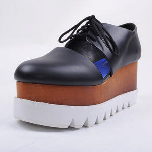 Jeffrey Campbell - Ponchik Shoes, Black/White - The Giant Peach