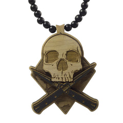 GoodWood NYC - Combat Skull Pendant, Black/Natural - The Giant Peach - 1