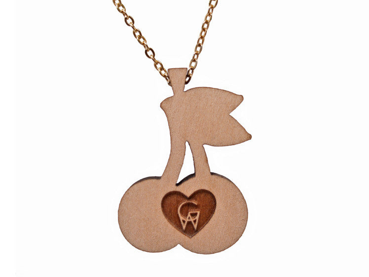 GoodWood NYC - Cherry Wooden Pendant Necklace - The Giant Peach