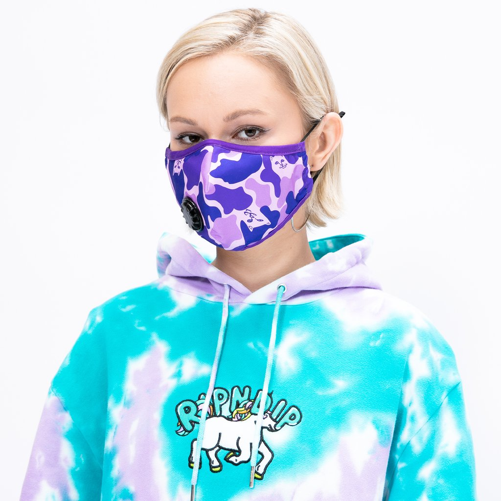 RIPNDIP - Ventilator Face Mask, Purple Camo