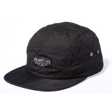 The Quiet Life - Quilted Men's 5 Panel Hat, Black - The Giant Peach