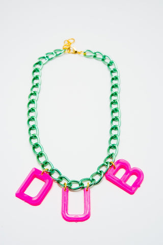Rainbow Starr- Dub Necklace, Green