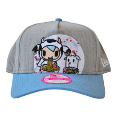 tokidoki - Ramen Duo Snapback Hat, Light Heather Grey - The Giant Peach - 1