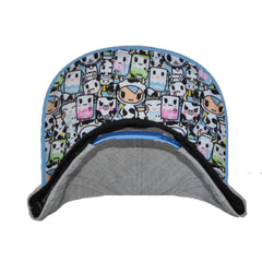 tokidoki - Ramen Duo Snapback Hat, Light Heather Grey - The Giant Peach