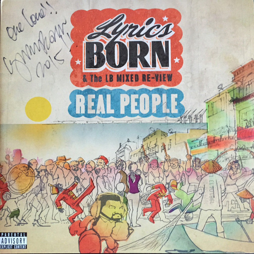 Lyrics Born - Real People Ltd Edition Clear 2XLP Vinyl (Autographed) - The Giant Peach