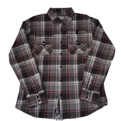 REBEL8 - Chapter Men's Flannel Shirt, Grey