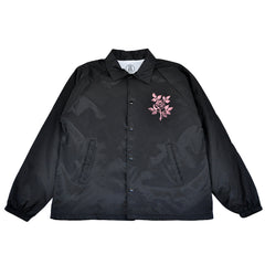 REBEL8 x BOW3RY - Dead Eyes Men's Coaches Jacket, Black - The Giant Peach