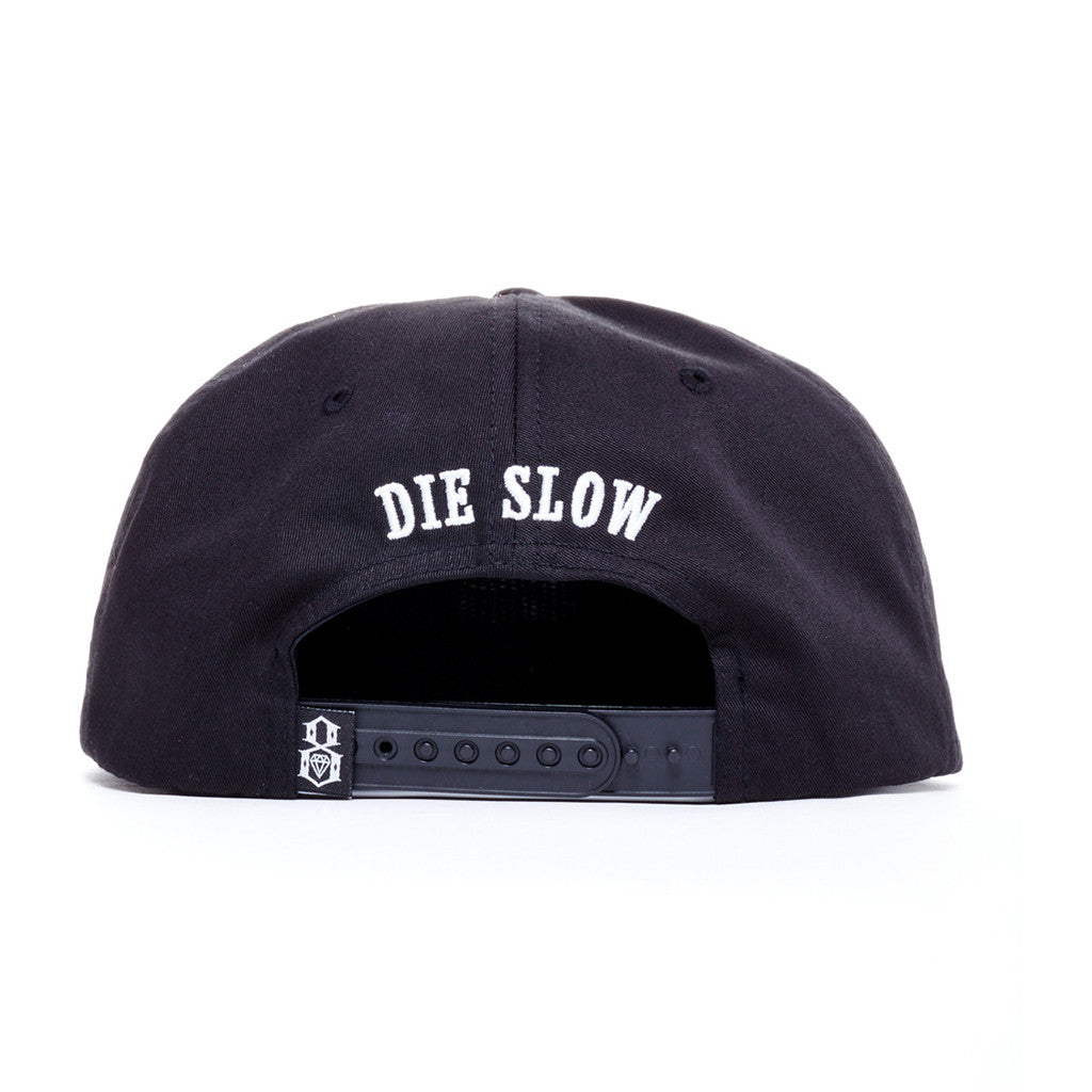 REBEL8 - Die Slow Snapback Hat, Black - The Giant Peach