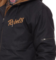 REBEL8 - Disrupter Men's Jacket, Black - The Giant Peach