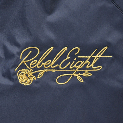 REBEL8 - Floret Embroidered Men's Anorak Jacket, Black