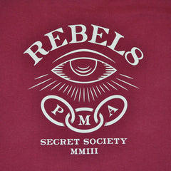 REBEL8 - Foretold Men's Shirt, Burgundy - The Giant Peach