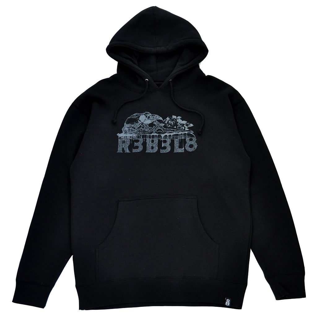 REBEL8 x BOW3RY - Sacrifice Men's Pullover Hoodie, Black - The Giant Peach