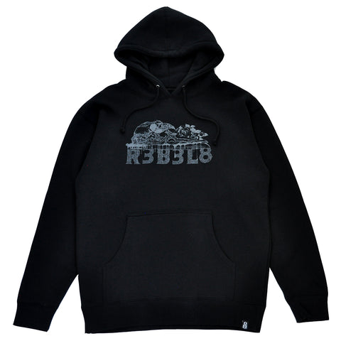 REBEL8 x BOW3RY - Sacrifice Men's Pullover Hoodie, Black