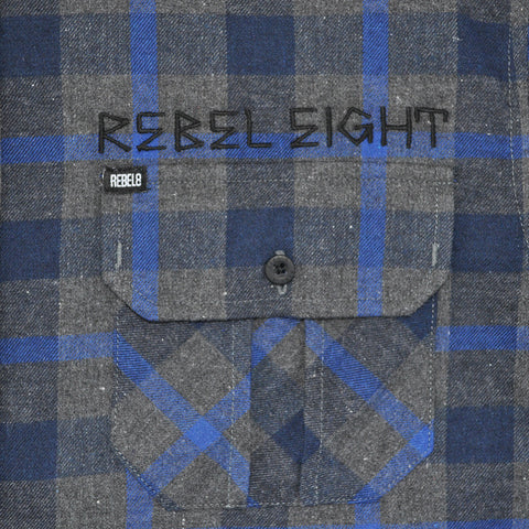 REBEL8 - Scrapper Men's Flannel Shirt, Multi-Colored