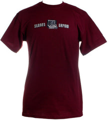 Stones Throw - Record Player Shirt, Dark Red - The Giant Peach
