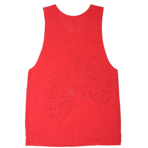Scratch -  Born to be Wild Women's Sleeveless Burnout Tank, Red - The Giant Peach