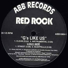 "Red Rock - ""G's Like Us"" prod. by Evidence, 12"" Vinyl - The Giant Peach"