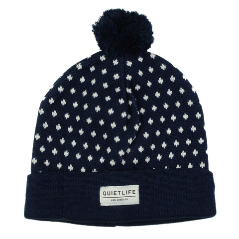 The Quiet Life - Regal Dots Stocking Cap, Navy