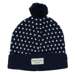 The Quiet Life - Regal Dots Stocking Cap, Navy - The Giant Peach
