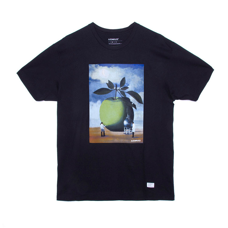 Akomplice - Rene Apple W.O.M.P. Men's Tee, Black - The Giant Peach