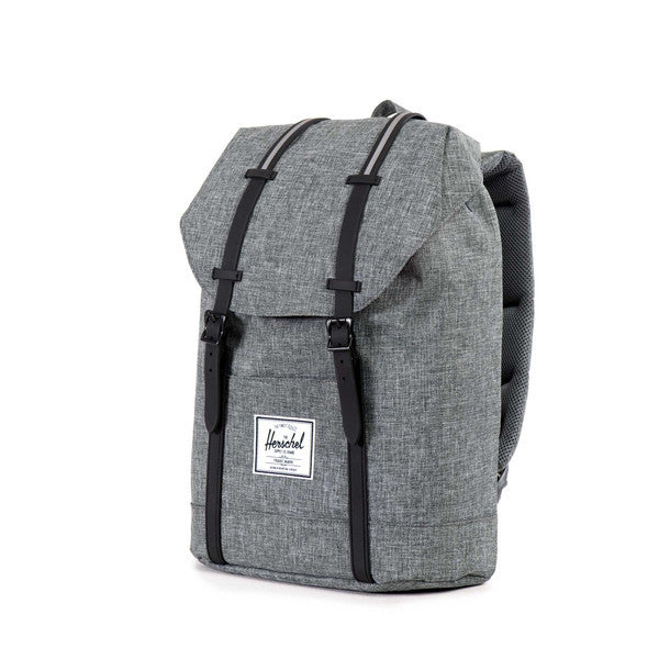 Herschel Supply Co. - Retreat Backpack, Raven Crosshatch - The Giant Peach - 3