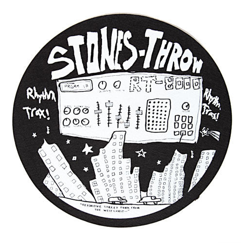 "Stones Throw - ""Rhythm Trax"" Slip Mats (1 Pair), Black - The Giant Peach"