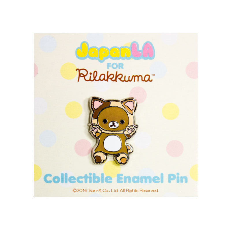JapanLA - Relaxed Cat Enamel Pin - The Giant Peach - 1