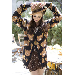 JapanLA - Rilakkuma Cardigan, Black - The Giant Peach - 2