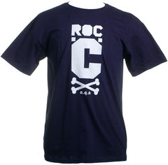 Roc C - Logo Men's Shirt, Navy - The Giant Peach