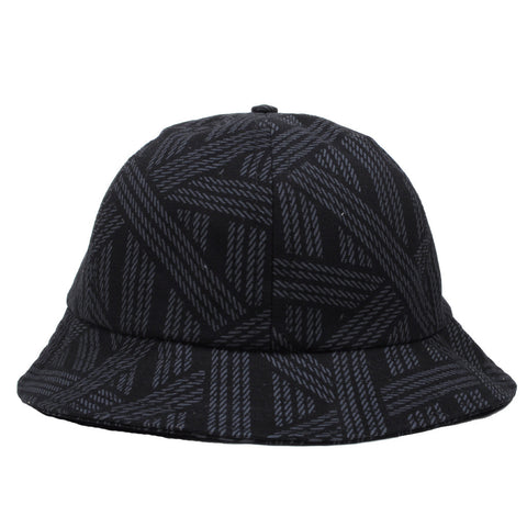 The Quiet Life - Rope Dome Bucket Hat, Black - The Giant Peach