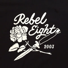REBEL8 - Rose And Dagger Men's Shirt, Black - The Giant Peach