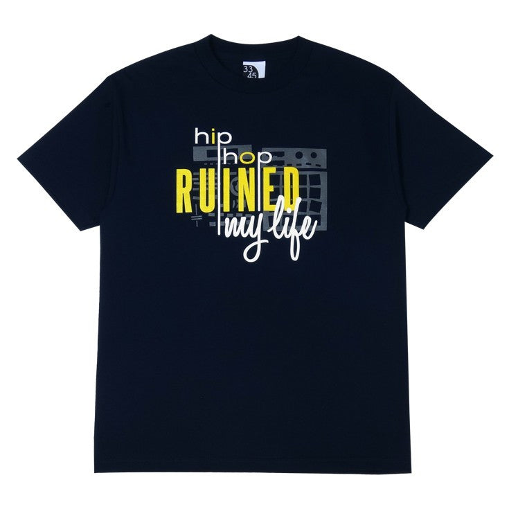 Ongaku - Ruined Men's T-Shirt,  Navy - The Giant Peach