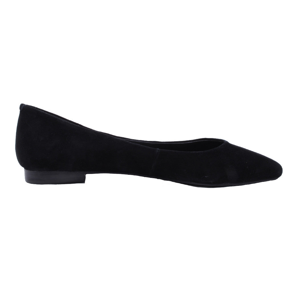 Jeffrey Campbell - Ruston Suede Pointed Flats, Black - The Giant Peach