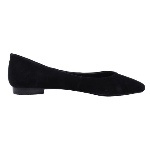 Jeffrey Campbell - Ruston Suede Pointed Flats, Black