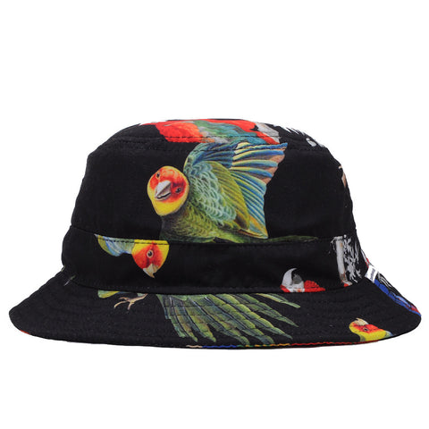 Akomplice - Samba Bird Bucket Hat, Black Multi