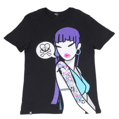 tokidoki TKDK - Say It Men's Shirt, Black - The Giant Peach - 1