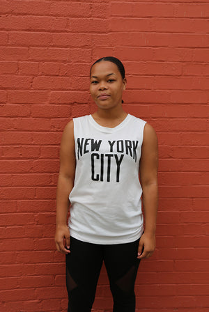 Scratch -  NYC Women's Sleeveless Tank, White