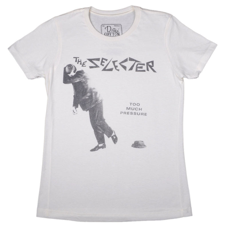 The Selecter - Too Much Pressure Junior's Shirt, Ecru - The Giant Peach