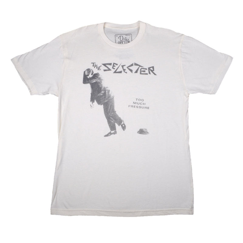 The Selecter - Too Much Pressure Men's Shirt, Ecru - The Giant Peach