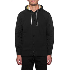 HUF - Serape Snap Hood Fleece Men's Jacket, Black - The Giant Peach - 1