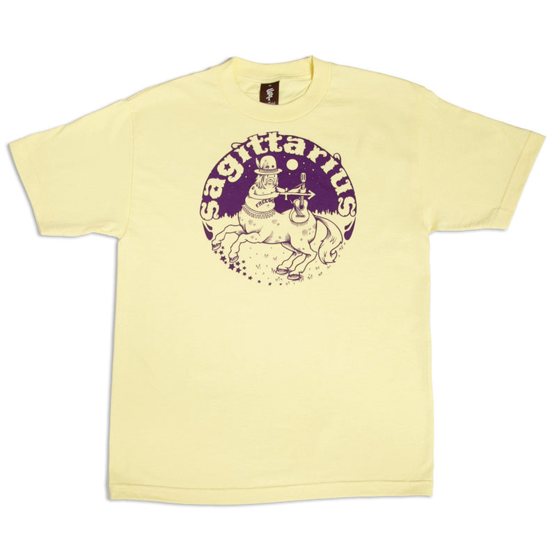 SuperFishal - The Sagittarius Men's Shirt, Pale Yellow - The Giant Peach