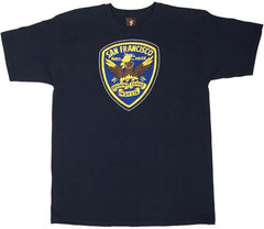 SuperFishal (Jeremy Fish) - Party Police Men's Shirt, Navy - The Giant Peach