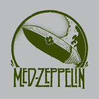 SuperFishal - Med Zep Men's Shirt, Athletic Heather Gray - The Giant Peach